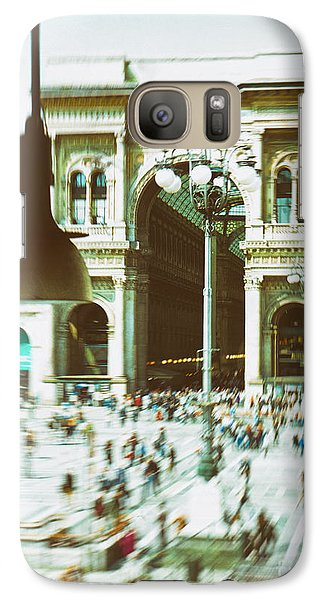 Galaxy S7 Case featuring the photograph Milan Gallery by Silvia Ganora