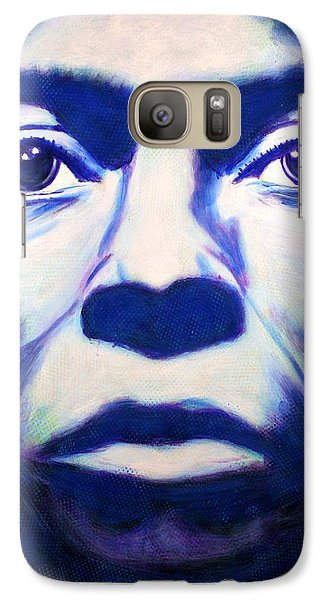 Galaxy Case featuring the painting Miles Davis Tutu Album Cover by Bob Baker