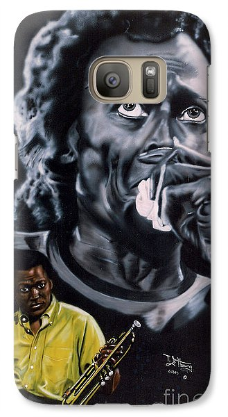 Galaxy Case featuring the painting More Miles Of Davis by Thomas J Herring