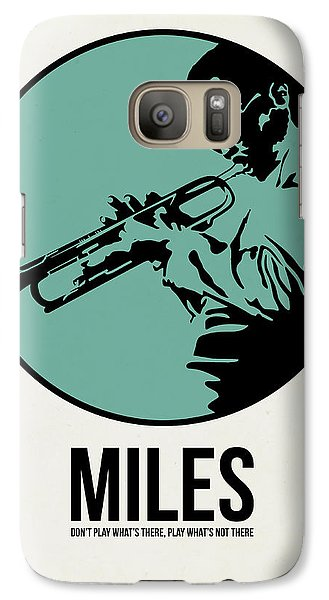 Jazz Galaxy S7 Case - Miles Poster 1 by Naxart Studio