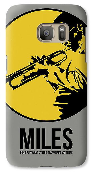Jazz Galaxy S7 Case - Miles Poster 3 by Naxart Studio