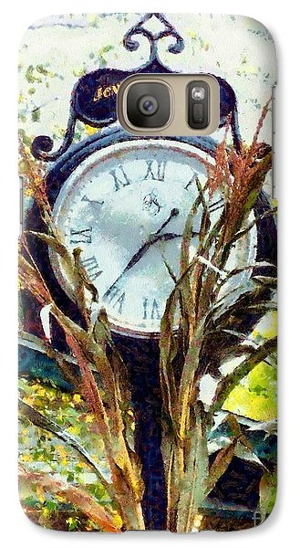 Galaxy Case featuring the photograph Milford Pa - Jewelry Square Street Clock - Autumn by Janine Riley