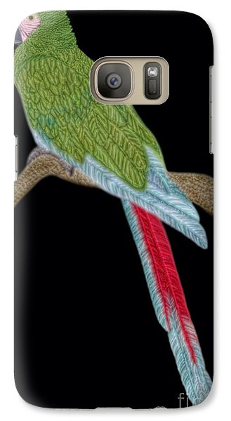 Galaxy Case featuring the digital art Military Macaw by Walter Colvin
