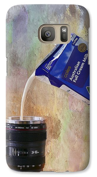 Galaxy Case featuring the photograph Milk 001 by Kevin Chippindall