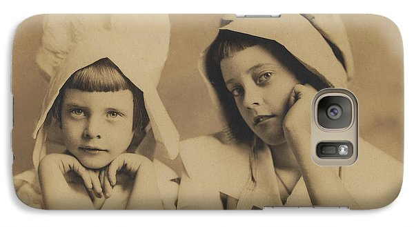 Galaxy Case featuring the photograph Milkmaid Sisters by Paul Ashby Antique Image