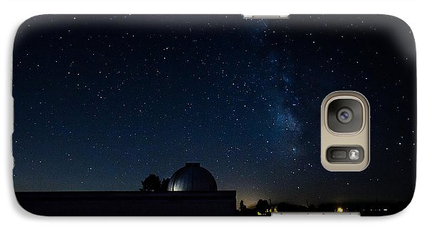 Galaxy Case featuring the photograph Milky Way And Observatory by Jay Stockhaus