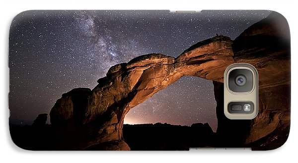 Milkyway Over Broken Arch Galaxy S7 Case by Melany Sarafis