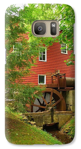 Galaxy Case featuring the photograph Grist Mill Water Wheel by Bob Sample