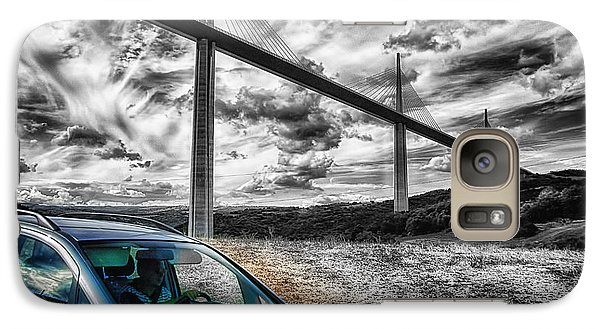 Galaxy Case featuring the photograph Millau En Haut Bw by Jack Torcello