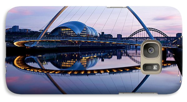 Galaxy Case featuring the photograph Millenium Bridge Sundown by Stephen Taylor