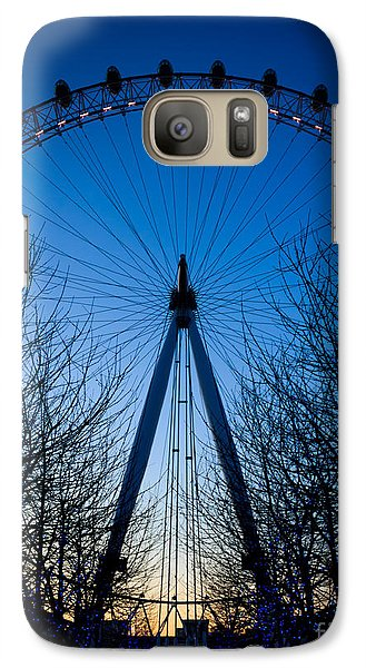 Galaxy Case featuring the photograph Millennium Eye London At Twilight by Peta Thames