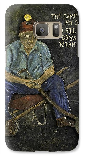 Galaxy Case featuring the painting Miner - Lamp Is My Sun by Eric Cunningham