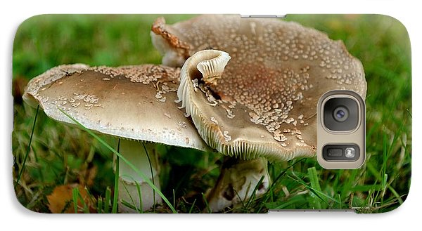 Galaxy Case featuring the photograph Mingling Mushrooms by Scott Lyons