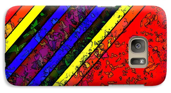 Galaxy Case featuring the digital art Mingling Stripes by Bartz Johnson