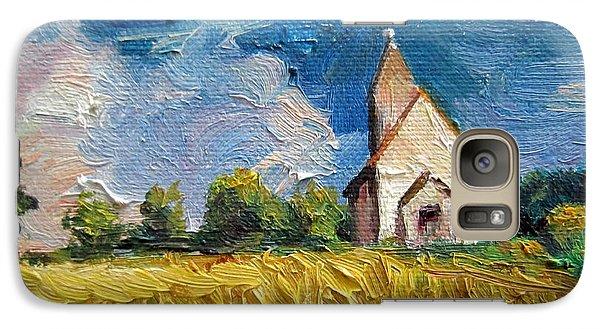Galaxy Case featuring the painting Mini Church by Jieming Wang