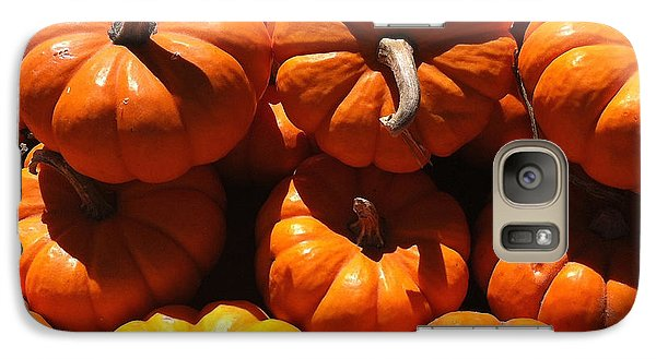 Galaxy Case featuring the photograph Mini Fall Pumpkins by Denyse Duhaime