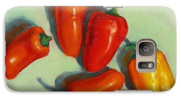 Galaxy Case featuring the painting Mini Peppers Study 1 by Margaret Stockdale