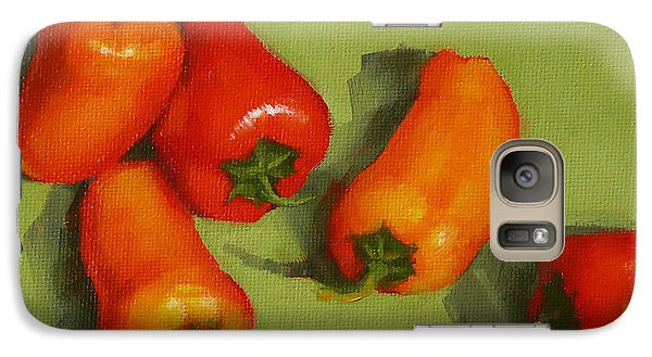 Galaxy Case featuring the painting Mini Peppers Study 2 by Margaret Stockdale