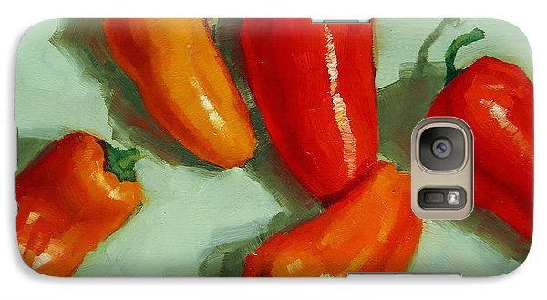 Galaxy Case featuring the painting Mini Peppers Study 3 by Margaret Stockdale