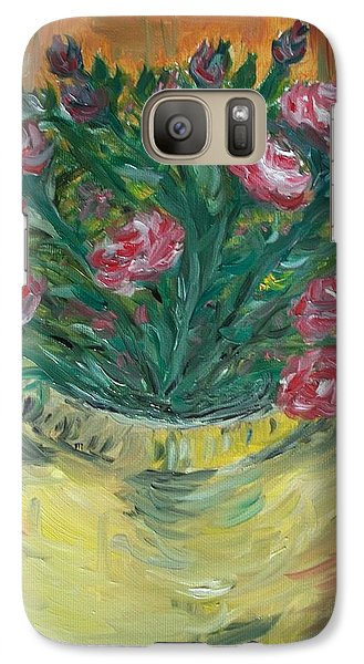 Galaxy Case featuring the painting Mini Roses by Teresa White