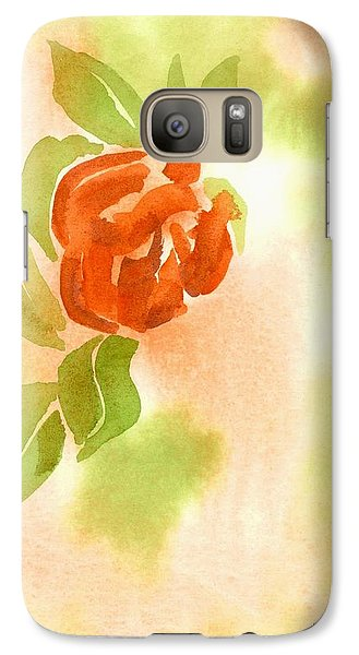 Galaxy Case featuring the painting Miniature Red Rose II by Kip DeVore