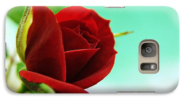 Galaxy Case featuring the photograph Miniature Rose by Kathy Churchman