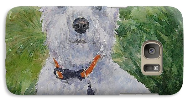 Galaxy Case featuring the painting Miniature Schnauzer by Gloria Turner