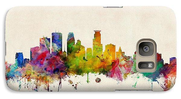 City Scenes Galaxy S7 Case - Minneapolis Minnesota Skyline by Michael Tompsett