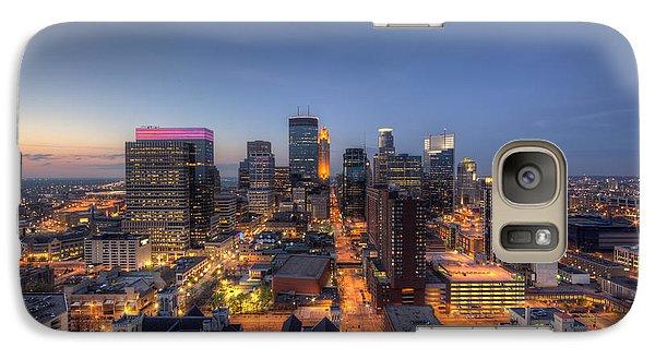 Marquette Galaxy S7 Case - Minneapolis Skyline At Night by Wayne Moran