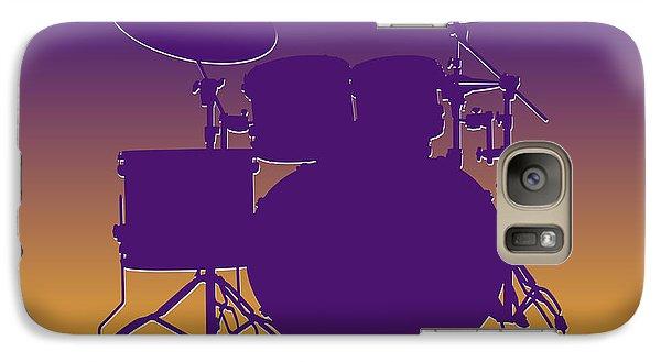 Minnesota Vikings Drum Set Galaxy S7 Case by Joe Hamilton