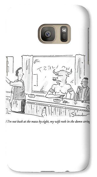 Minotaur At Bar Talking To Bartender Reaching Galaxy S7 Case