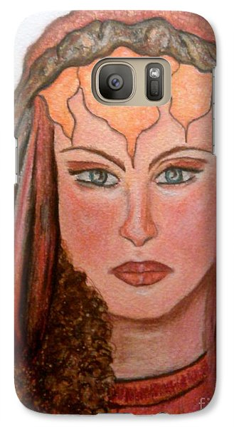 Galaxy Case featuring the drawing Mirabella Wondrous Beauty by Lori  Lovetere
