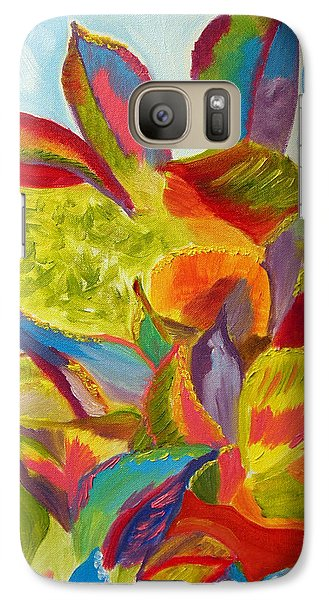 Galaxy Case featuring the painting Miracles Wavering Under The Sea by Meryl Goudey