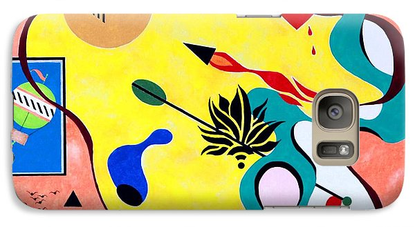 Galaxy Case featuring the painting Miro Miro On The Wall by Thomas Gronowski
