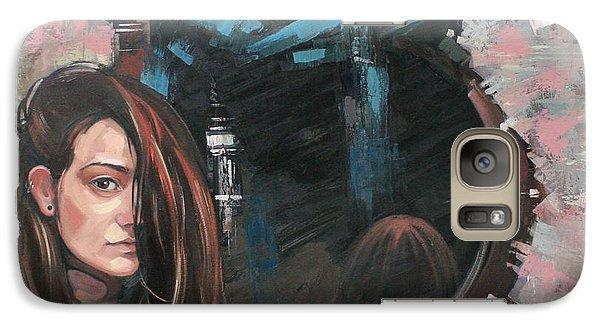 Galaxy Case featuring the painting Mirror by Anastasija Kraineva
