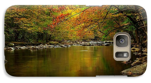 Galaxy Case featuring the photograph Mirror Fall Stream In The Mountains by Debbie Green