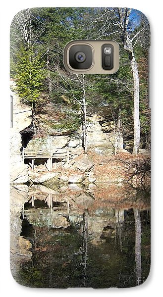 Galaxy Case featuring the photograph Sugar Creek Mirror by Pamela Clements