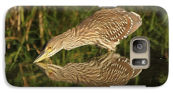 Galaxy Case featuring the photograph Mirror Mirror On The Wall Who Is The Fairest Heron Of All by Heather King