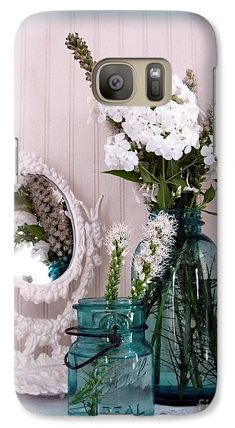 Galaxy Case featuring the photograph Mirrored Bouquet 1 by Margaret Newcomb