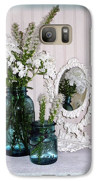 Galaxy Case featuring the photograph Mirrored Bouquet 2 by Margaret Newcomb