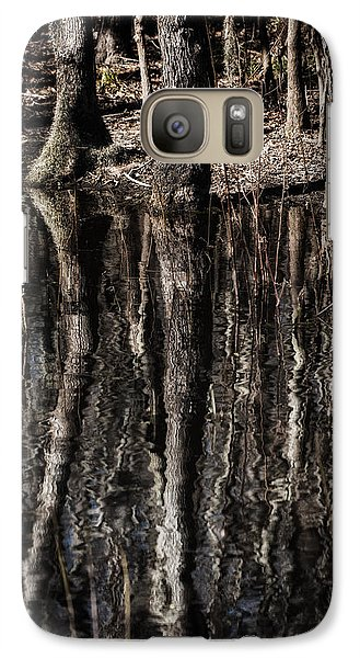 Galaxy Case featuring the photograph Mirrored Trees by Zoe Ferrie