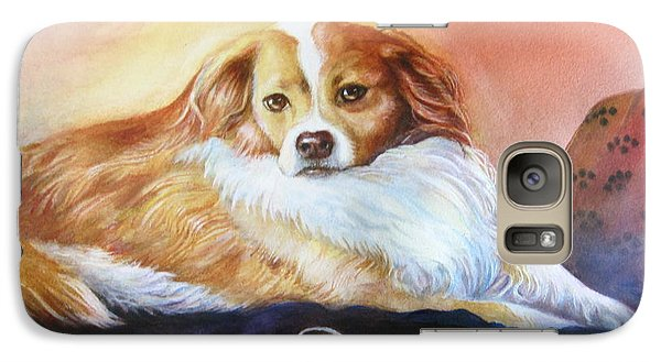 Galaxy Case featuring the painting Miss Daisy by Patricia Schneider Mitchell