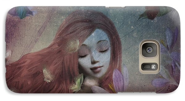 Galaxy Case featuring the digital art Miss Little Crocus by Barbara Orenya