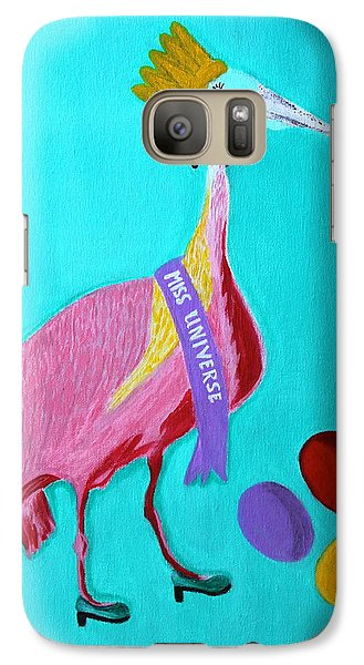 Galaxy Case featuring the painting Miss Universe by Lorna Maza