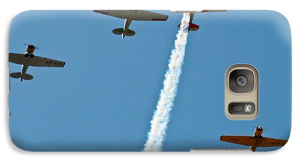 Galaxy Case featuring the photograph Missing Man Flyover by Allen Sheffield