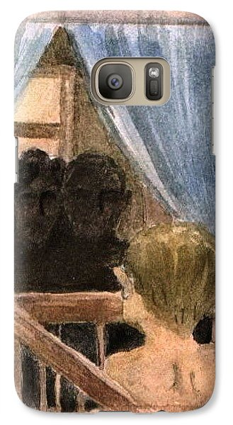 Galaxy Case featuring the painting Missing You Or Loneliness by Mikhail Savchenko
