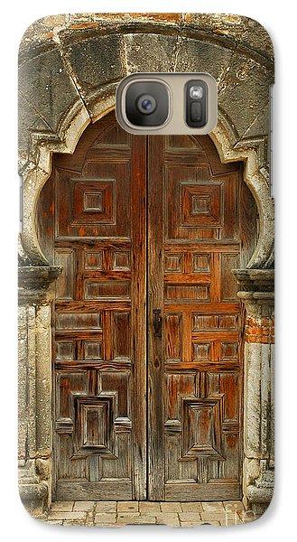 Galaxy Case featuring the photograph Mission Espada Door  by Olivia Hardwicke