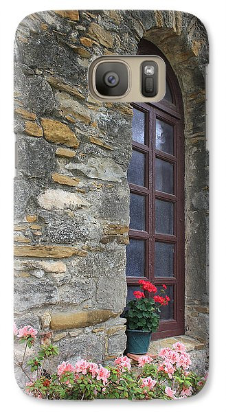 Galaxy Case featuring the photograph Mission Espada Window by Kathleen Scanlan