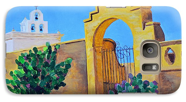 Galaxy Case featuring the painting Mission San Xavier by Rodney Campbell