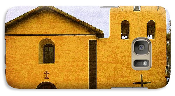 Galaxy Case featuring the photograph Mission Santa Inez by Timothy Bulone
